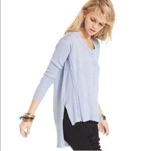 ☆☆Free People Light Blue Waffle Sweater ☆☆
